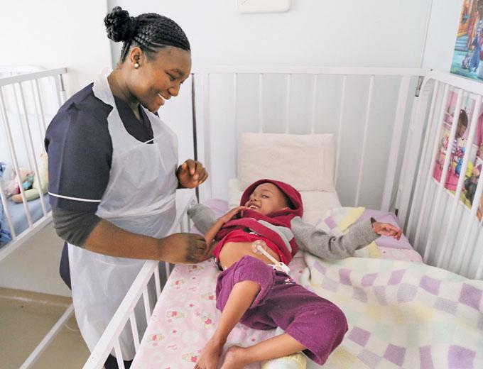Das Lambano besteht aus einem Pflegehospiz für an Aids erkranke Kinder...