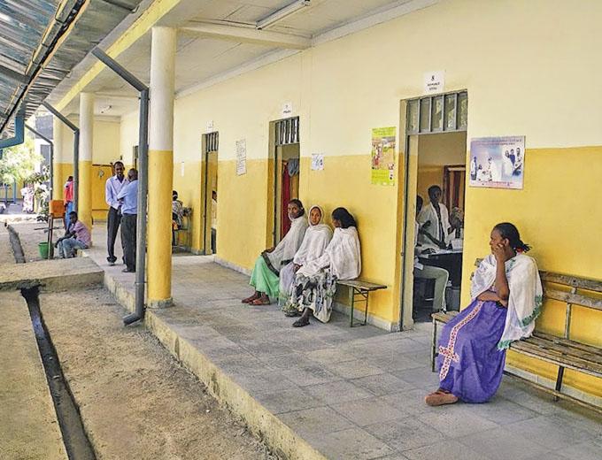 2013: Die z.T. umgebauten Behandlungsräume im Hauptgebäude.
