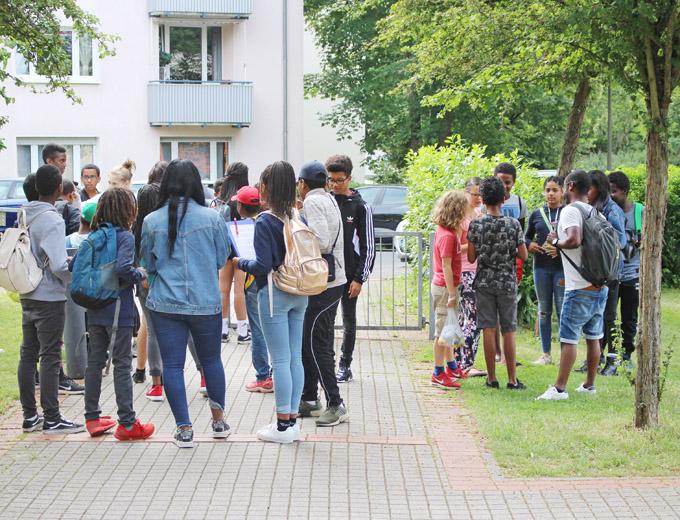 Programmpunkt 1 am Samstag: Stadtrallye in Wiesbaden.