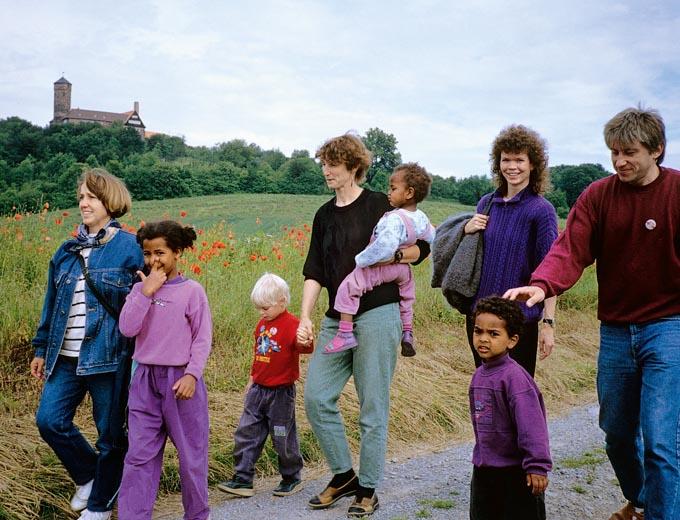 Eltern-Kind-Treffen 1991 auf Burg Ludwigstein