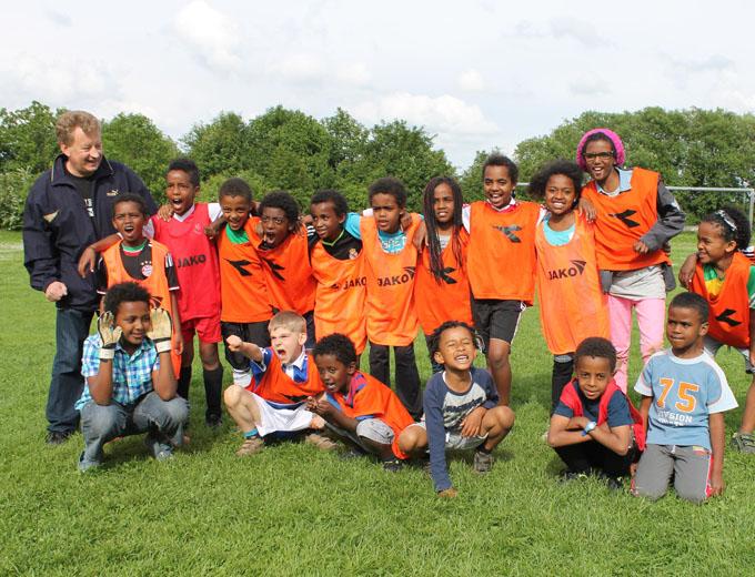 Eltern-Kind-Treffen 2013 in Oberbernhards (U10-Fußballteam)