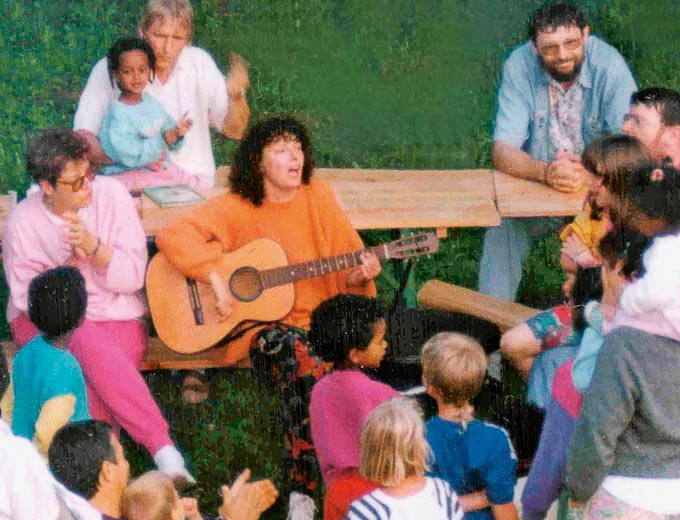 Erste Familienfreizeit 1990 in Bois-Le-Sire/ Frankreich