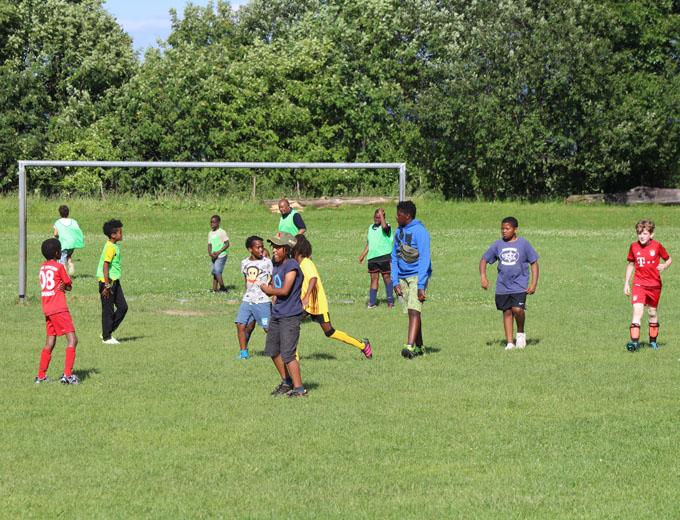 Sportliche Kinder.