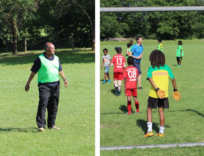 Als Mitspieler dabei: Ato Abdulkarim (links)
